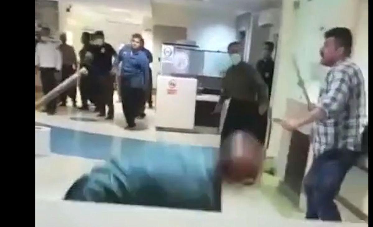 قمه کشی در بیمارستان حمام خون راه انداخت + فیلم