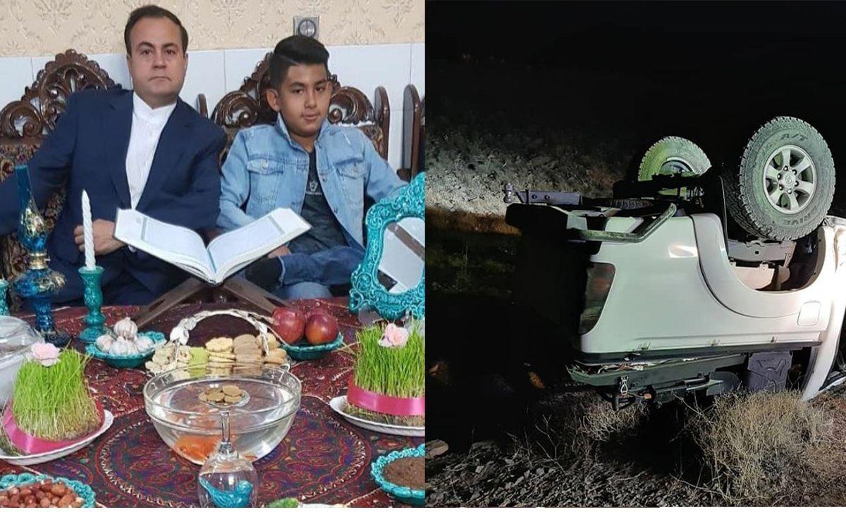 بازماندگان زلزله بم جان خود را در تصادف از دست دادند!+ فیلم