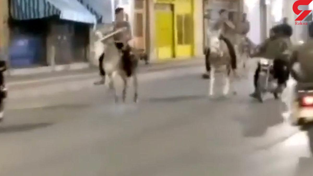 الاغ سواری گروهی وسط شهر برای فرار از محدودیت های شبانه! +فیلم جنجالی